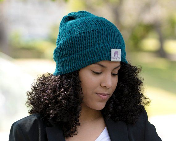 Satin Lined Knit Beanie Teal Locks In Hair Moisture   Frizz Control For  Naturally Curly Hair and Kin 5e44e4383c2f