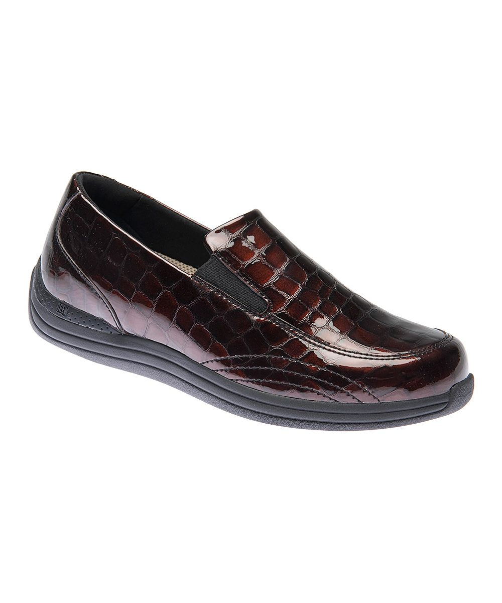 f21e7f4dc81c Look at this Brown Croc Violet Leather Loafer