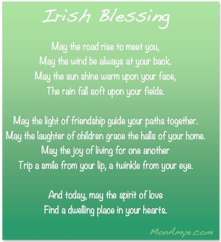 Irish Blessing   Wedding Wednesday   MonAmye.com   bride to be ...