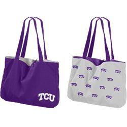 TCU Texas Christian Reversible Tote Bag Purse