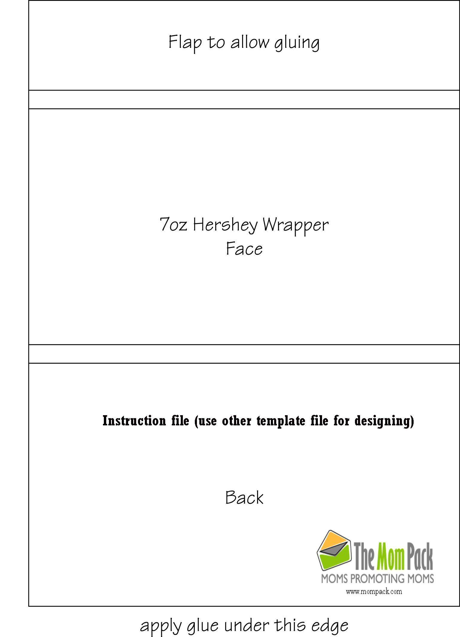 005 Hershey Bar Wrapper Template Ideas Magnificent Free Regarding