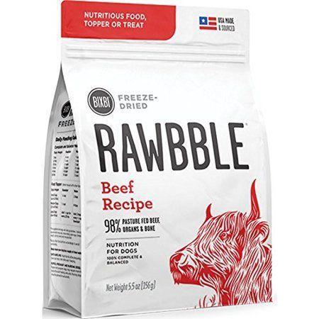 Bixbi Rawbble Cage Free Beef Recipe Freeze Dried Dog Food 5 5 Oz
