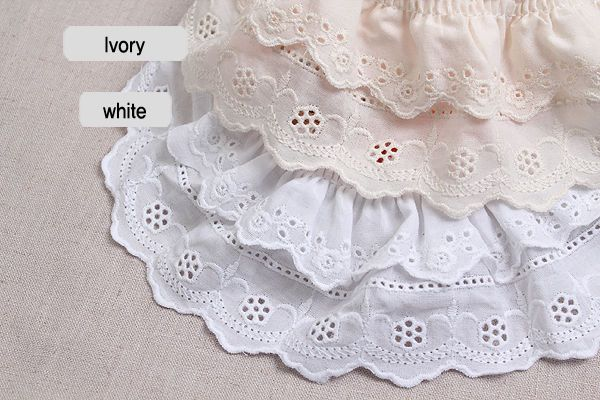 """Bows Ribbon and Lace~ 2/""""//5cm Baby Blue Cotton Broderie Anglaise Lace Trimming"""