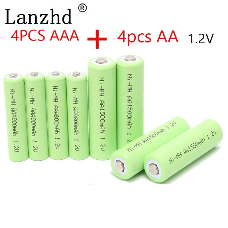 Universe Of Goods Buy Rechargeable Battery Aa 1 2v Aaa Ni Mh Batteries 2a 3a Batter 4pcs Aa Batteries 1500mah 4pcs Aaa Batteries 800mah For Only 10 86 Usd
