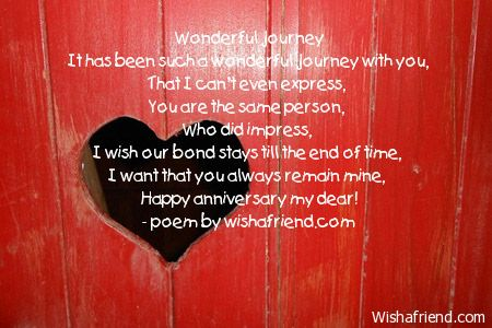 Anniversary wishes poems for husband for him poem