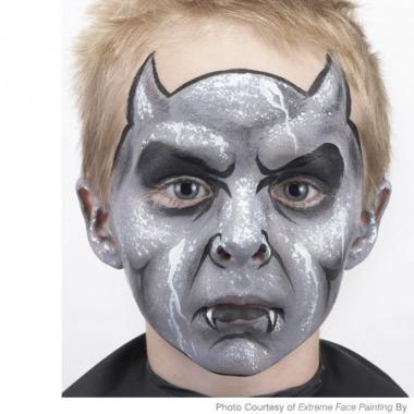 Spooky Gargoyle Face Painting Design   Parenting