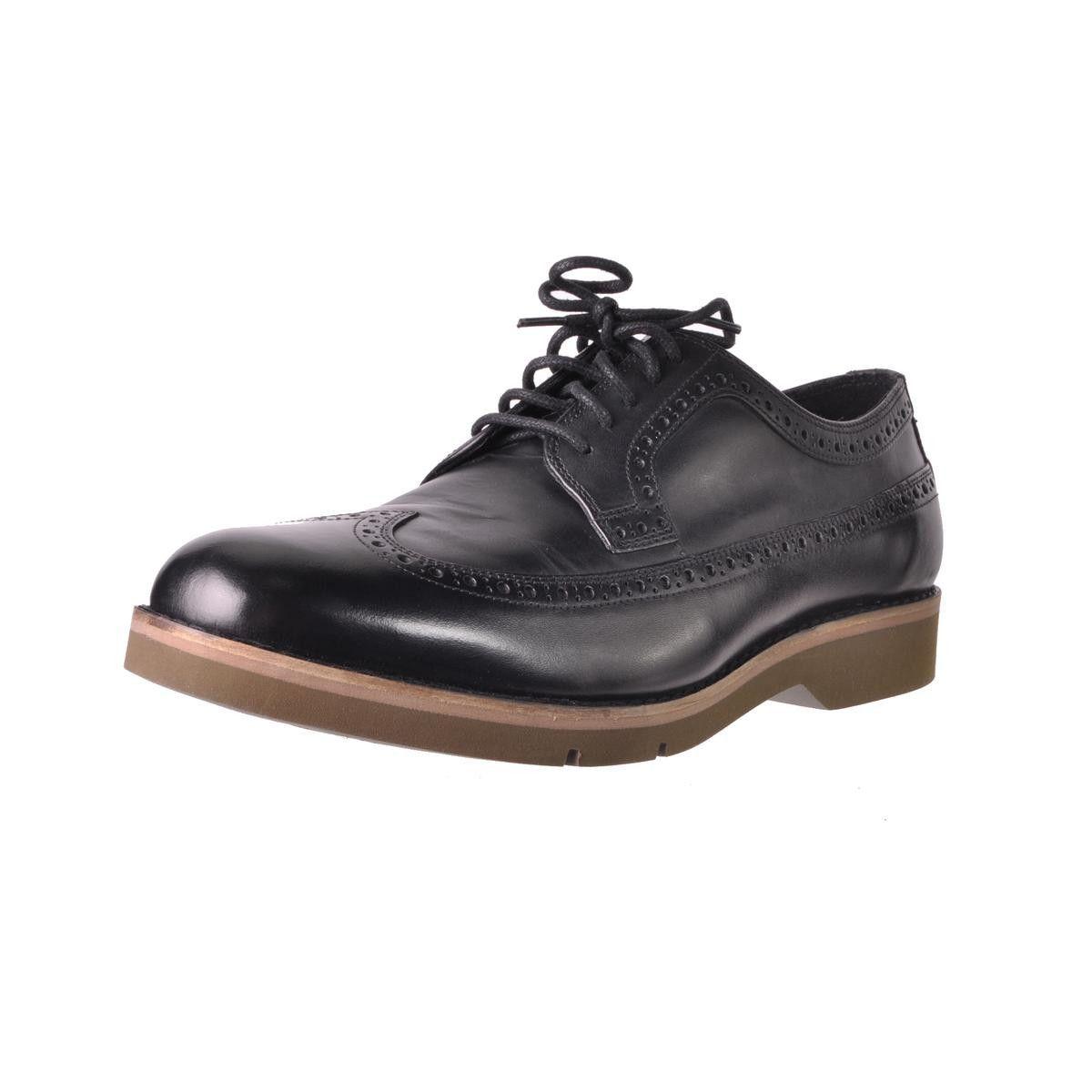 Cole Haan Mens Great Jones XL Leather Brogue Wingtip Shoes