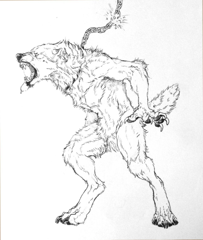 Wolf monsters photo werewolf in 2019 werewolf art