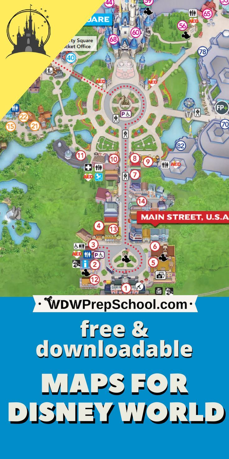 Disney World maps download for the parks, resorts