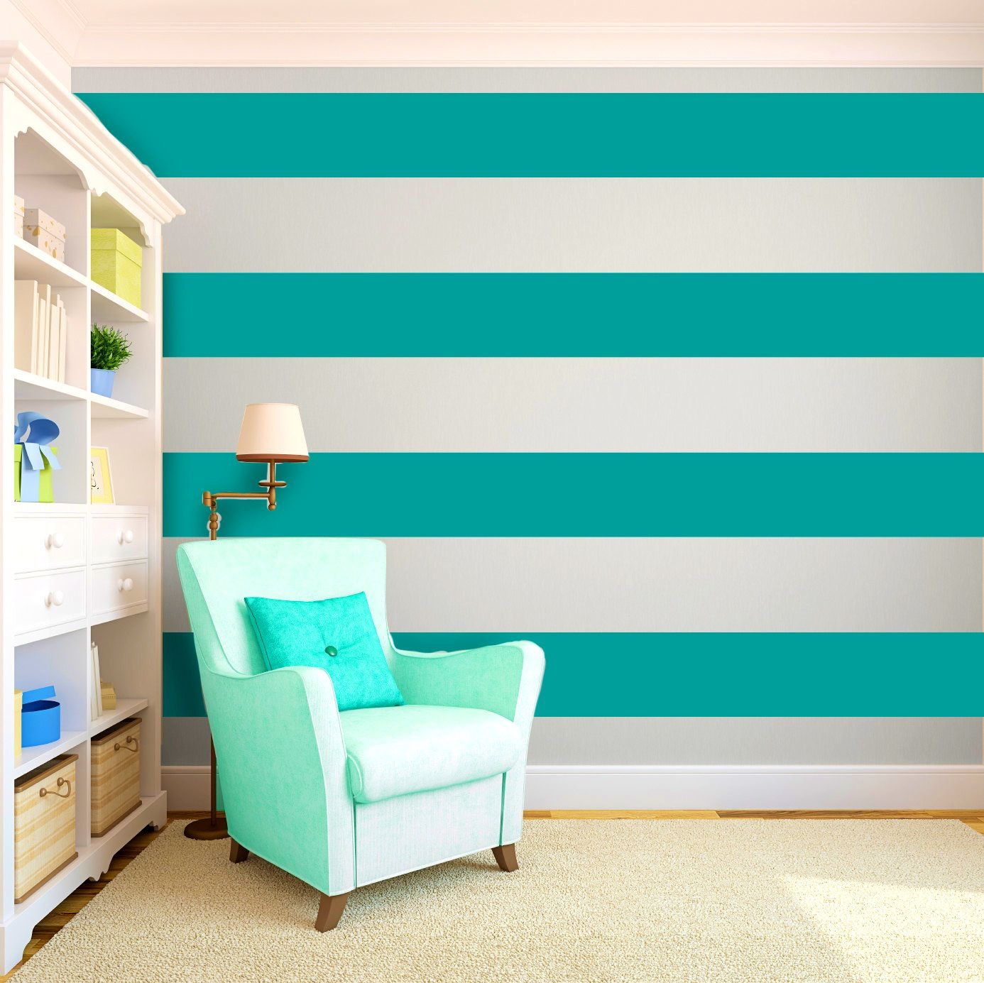 Interior Wall Painting Ideas Techniques Part - 43: BathroomAppealing Cool Painting Ideas That Turn Walls And Ceilings Into A  Statement Striped Bedroom Turquoise Wall