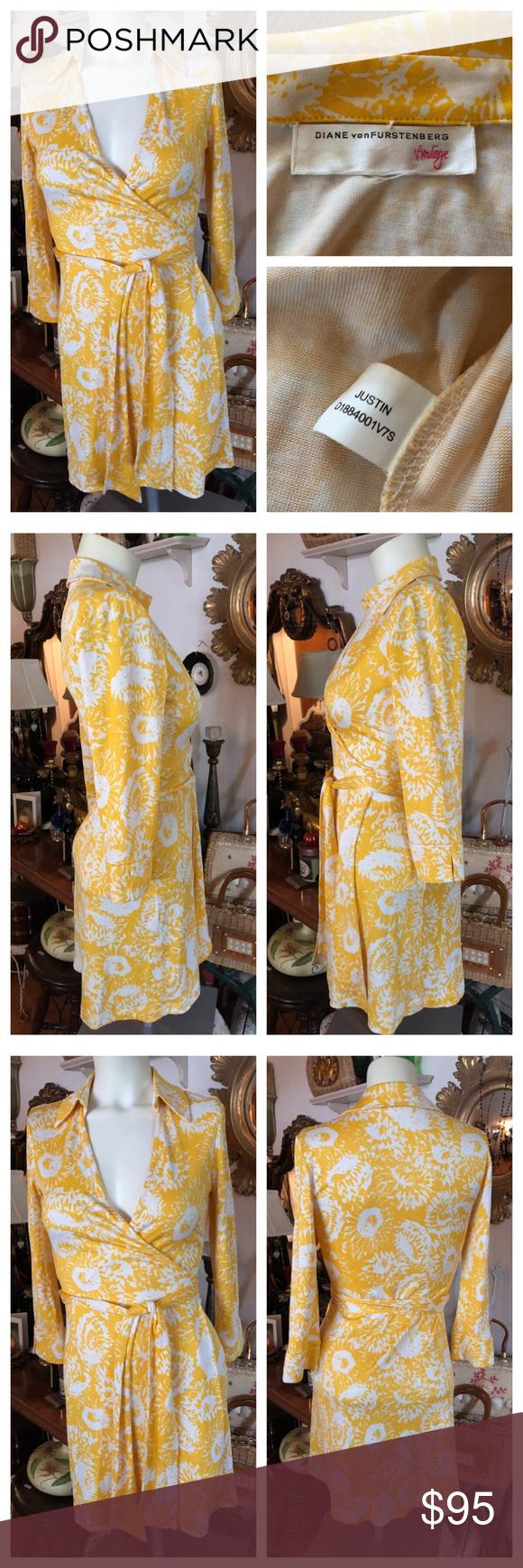 Vintage Diane Von Furstenberg Justin Wrap Dress Wrap Dress White Wrap Dress Diane Von Furstenberg [ 1740 x 580 Pixel ]