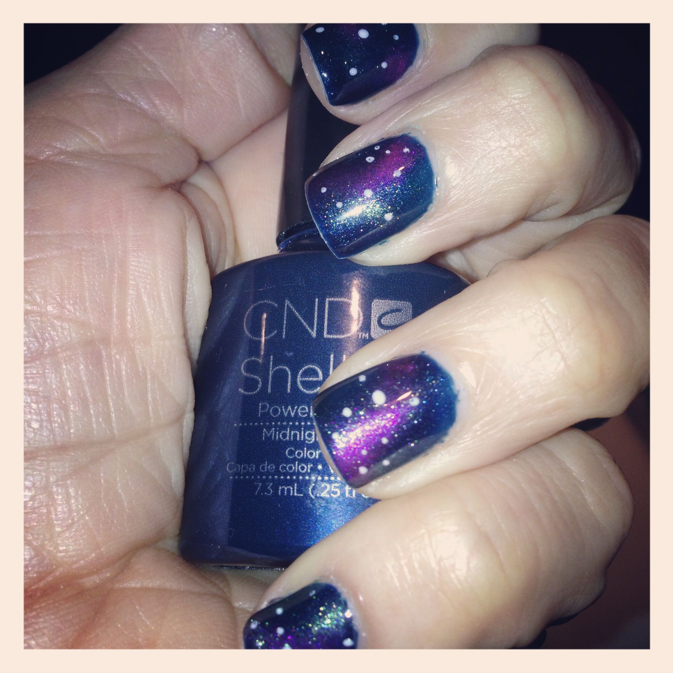 Galaxy nail art design effect done with cnd shellac and additives galaxy nail art design effect done with cnd shellac and additives by me prinsesfo Images