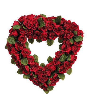 Take a look at this red rose 16 39 39 heart wreath by allstate for Allstate floral and craft