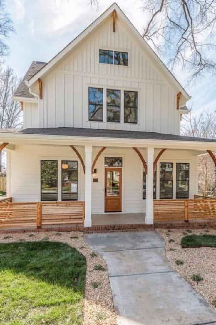40 pictures that prove white farmhouses are the most on beautiful modern farmhouse trending exterior design ideas id=98969