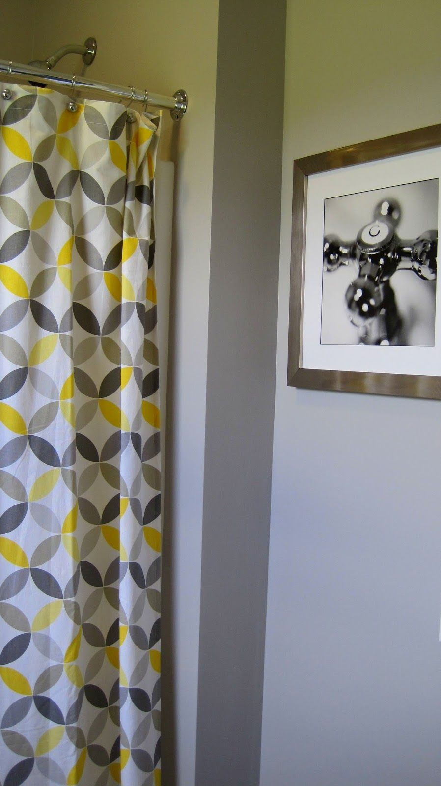 Yellow and gray shower curtain home yard decor pinterest