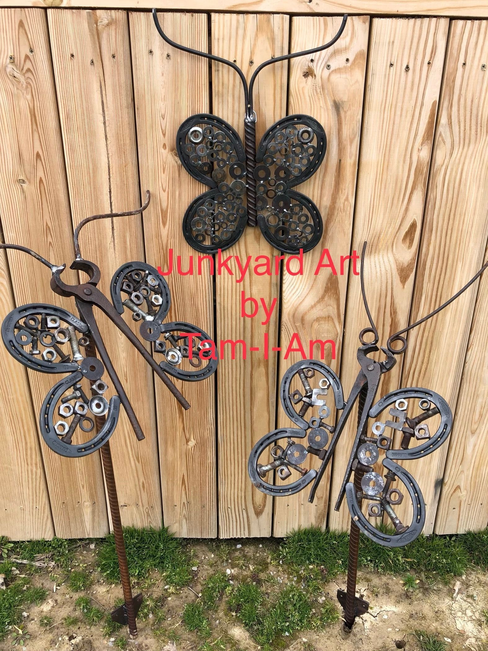 Junkyard art by tamiam these butterflies are one of my favorite