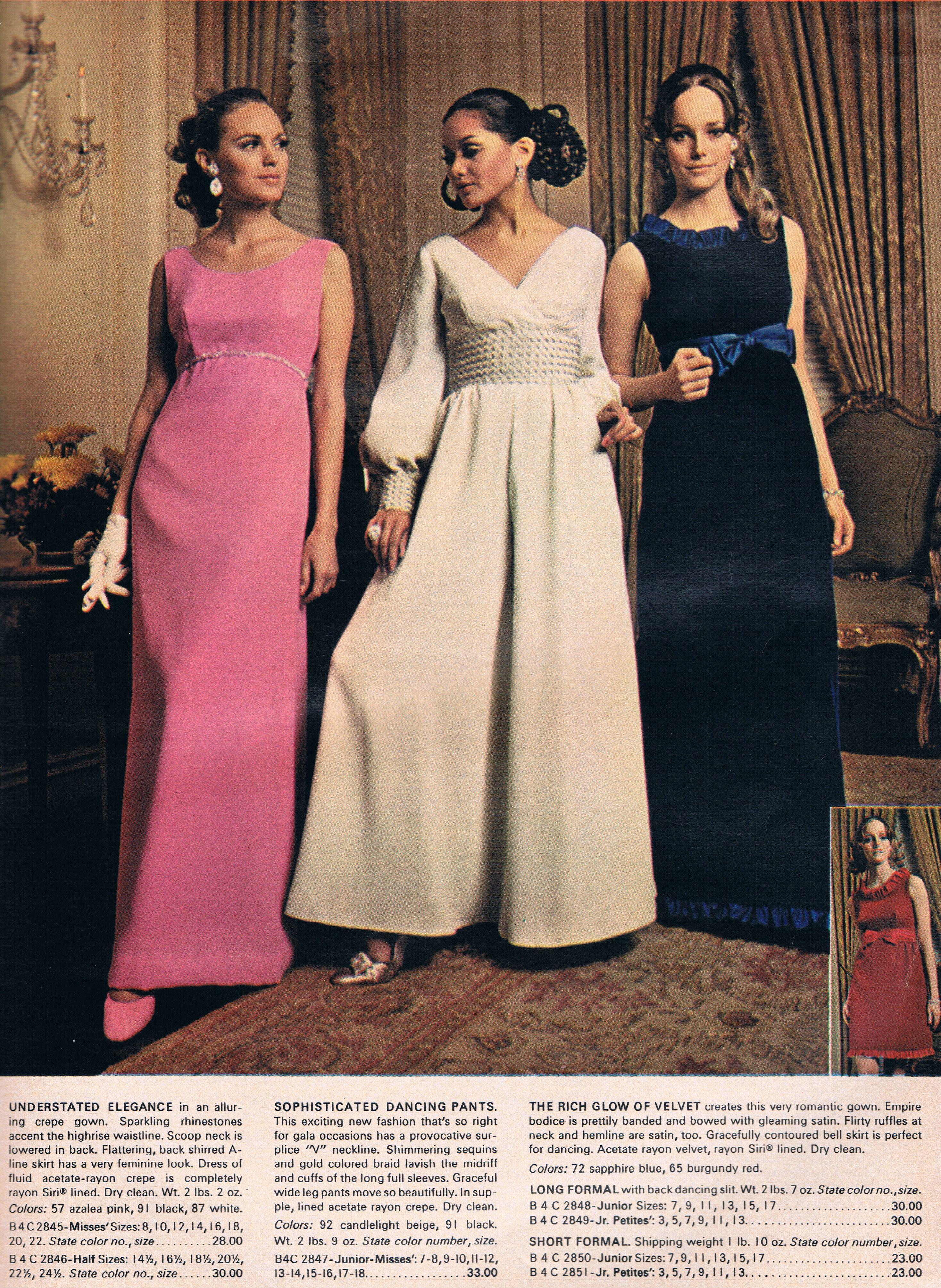 Wards 1969 Catalog Vintage Style Prom Dresses Fashion 1960 Dress [ 4019 x 2936 Pixel ]