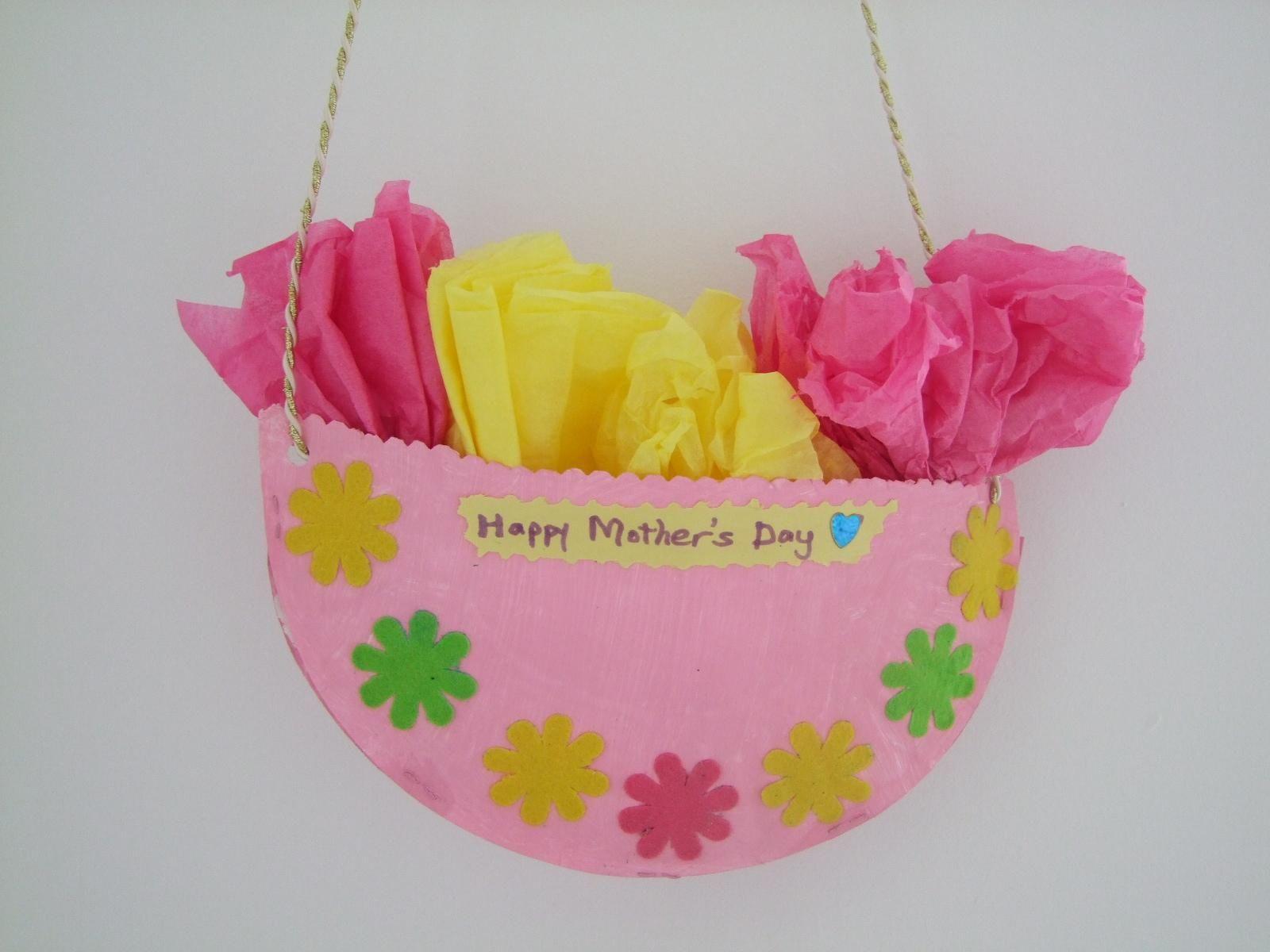 Flower basket paper plate craft kid ideas pinterest paper flower basket paper plate craft mightylinksfo
