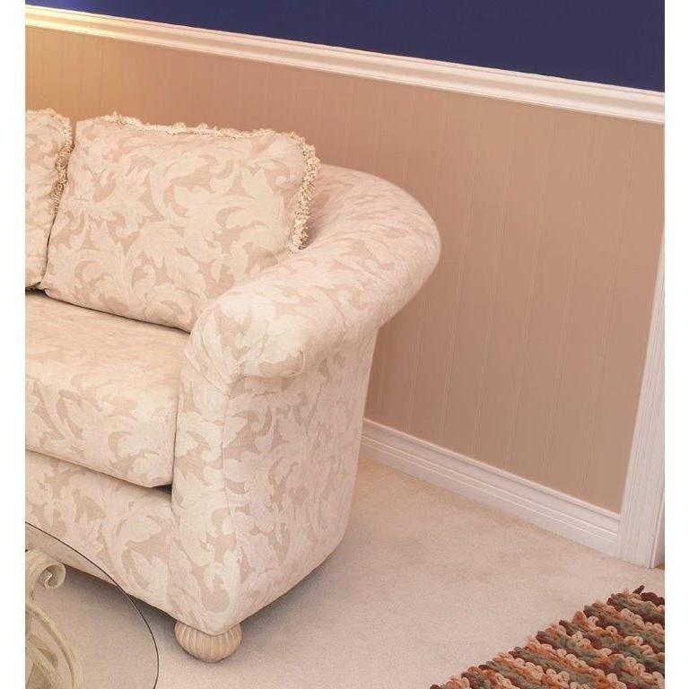 Chair Rail Kit Part - 30: White Vinyl Wainscot Interior/Exterior Chair Rail