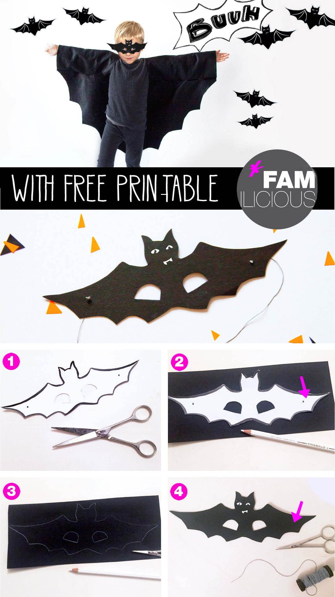 diy halloweenkost m fledermaus batman maske. Black Bedroom Furniture Sets. Home Design Ideas