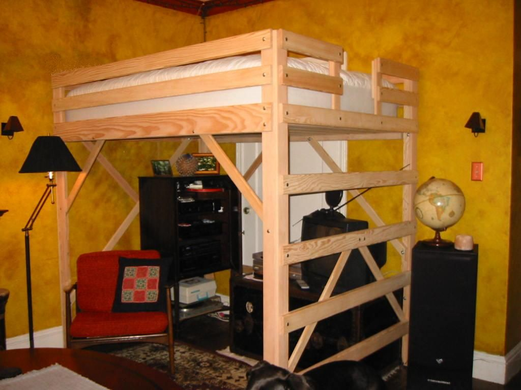 Queen Loft Beds For Adults Yes We Build King Size Loft Beds