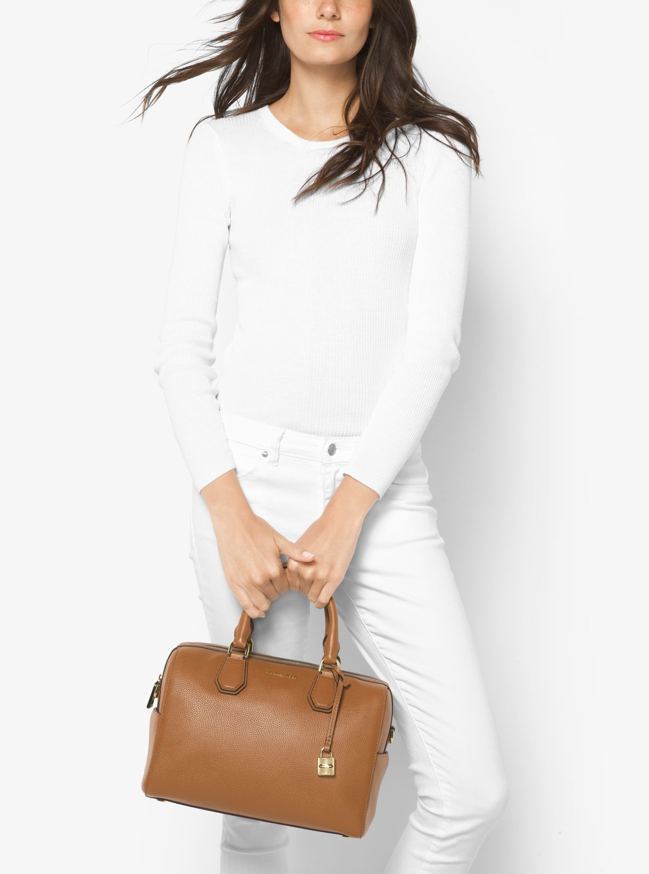 MICHAEL KORS Mercer Medium Leather Duffel.  michaelkors  bags  shoulder bags   hand bags  polyester  leather  lining   0c7fe4563c