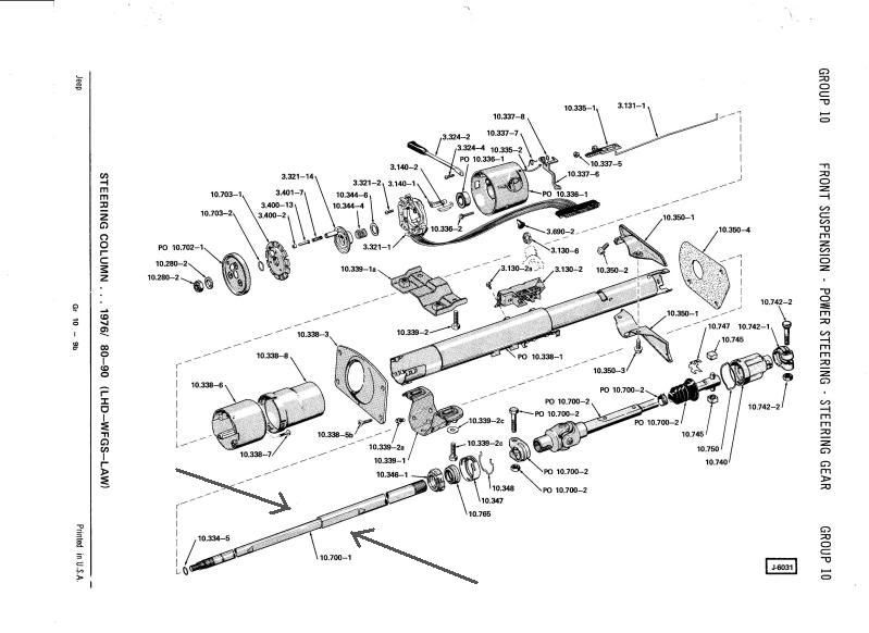 cj7 power steering diagram