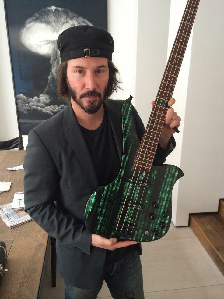 Just keanu reeves with a matrix bass keanu reeves