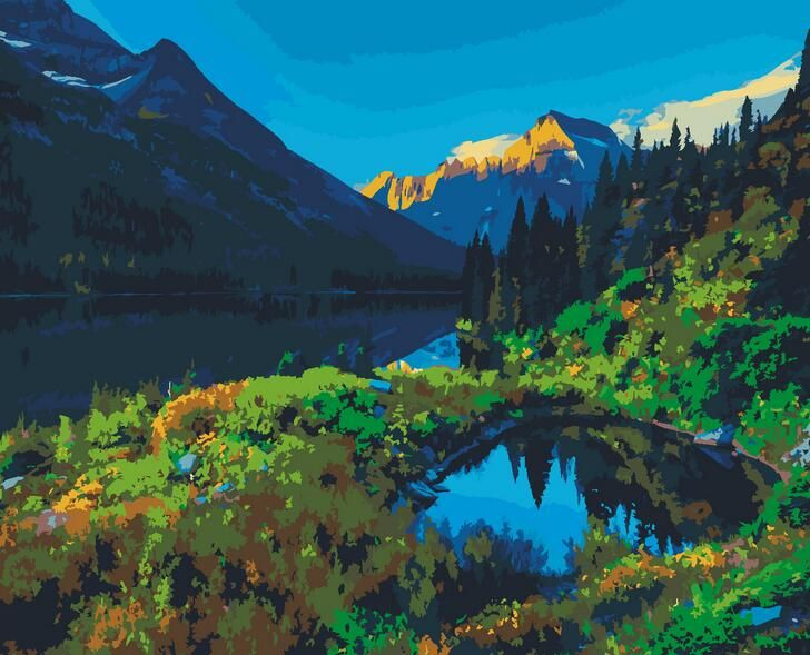 best price lake and mountain paints by numbers nature landscape