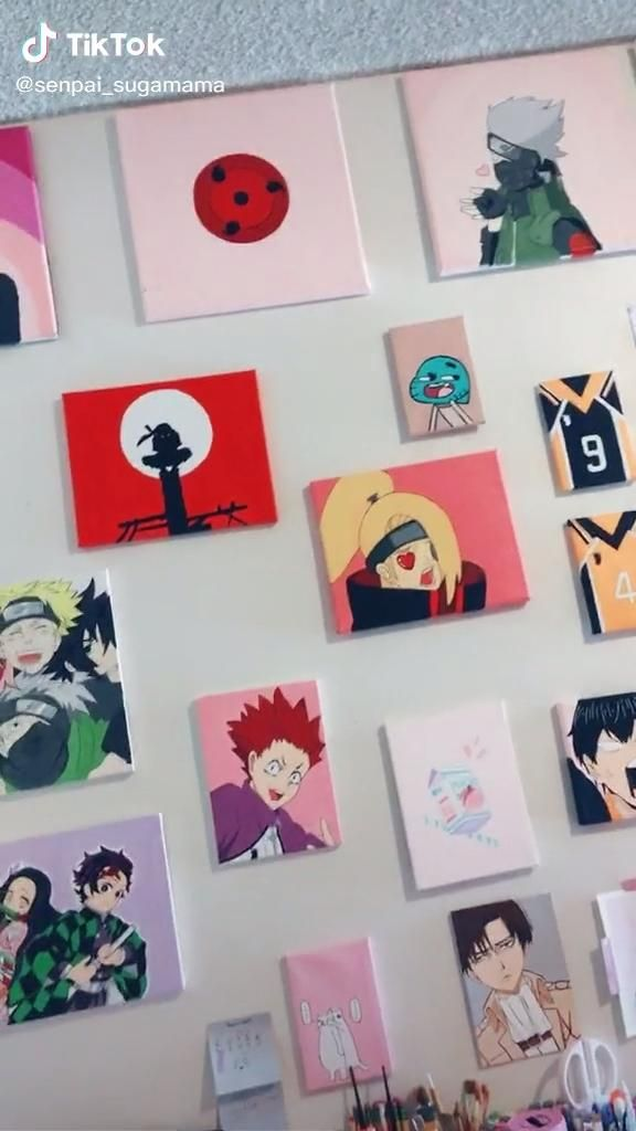 Pin By Leticia On Tik Tok Video Anime Decor Anime Canvas Anime Drawings
