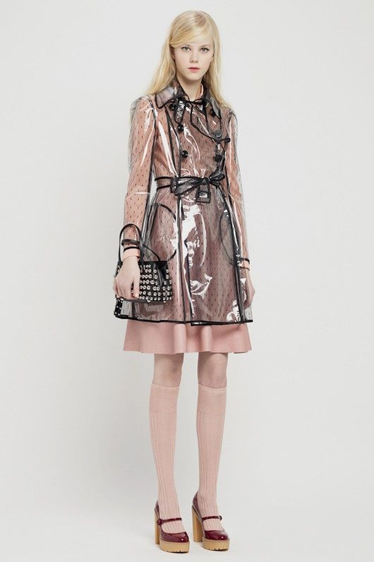 189845f5641 The Clothes Horse - Red Valentino  Now THAT s a see-through raincoat I  could get behind!