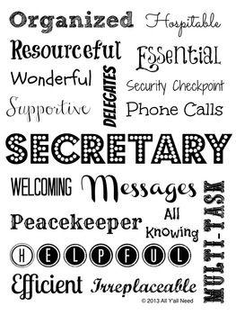 Secretary Subway Art School Secretary Gifts School Secretary Office