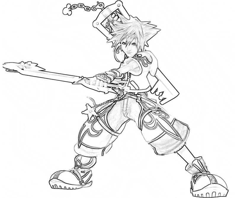 piters of sora Printable Kingdom Hearts Sora Characters Coloring