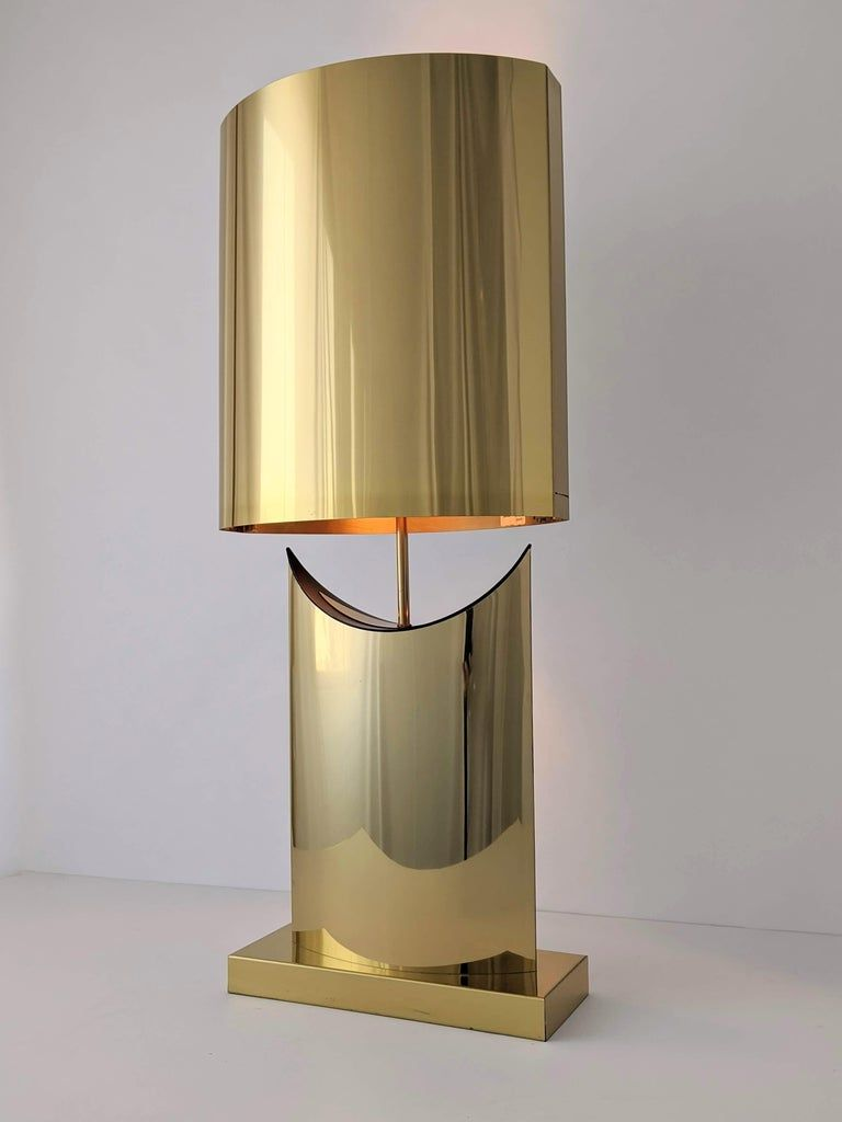 Curtis Jere Table Lamp 1976 Plated Usa American Mid Century