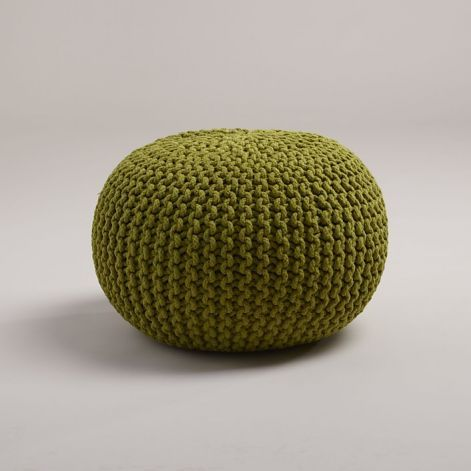 Classic knit poufs brighten up room - SFGate