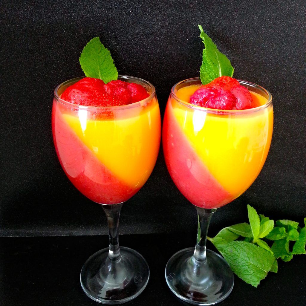 Vegan Panna Cotta with mango and strawberries - My Life In ...