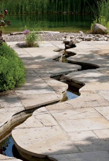 A stream in the garden Water Features Pinterest Barrière, Les - Couler Une Terrasse En Beton