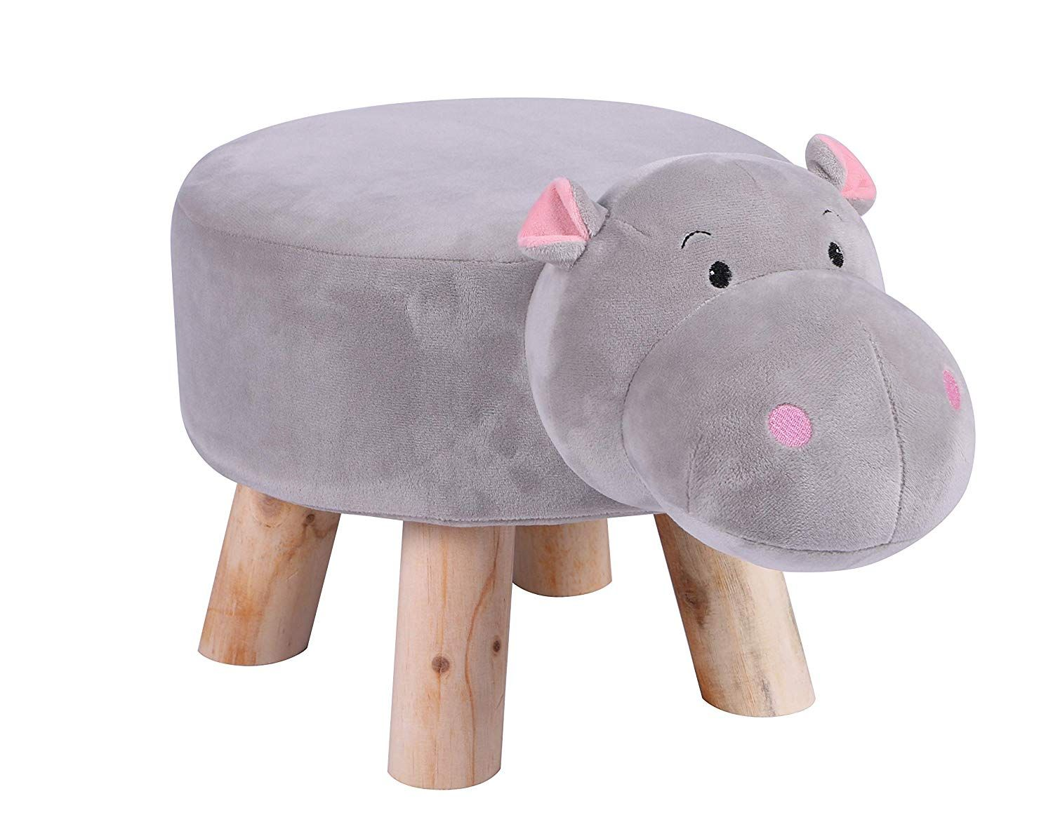 Amazon Com Little Popi Children S Favorite Animal Ottoman Kids Footrest Stool Plush Ride On Seat Removable And Washable Kids Safe Storage Stool Childrens