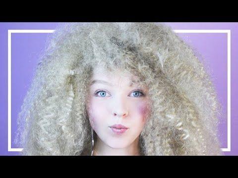 Afro Locken aus glatten Haaren selber machen | Tutorial | Volles Haar | do ..., (12) Afro Locken au