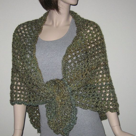 Homespun Prayer Shawl in Meadow by DeniseBlack on Etsy