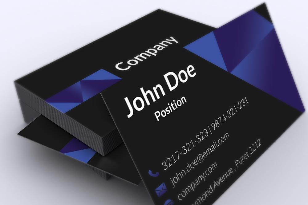 Stylish dark corporate business card template suitable for any kind ...