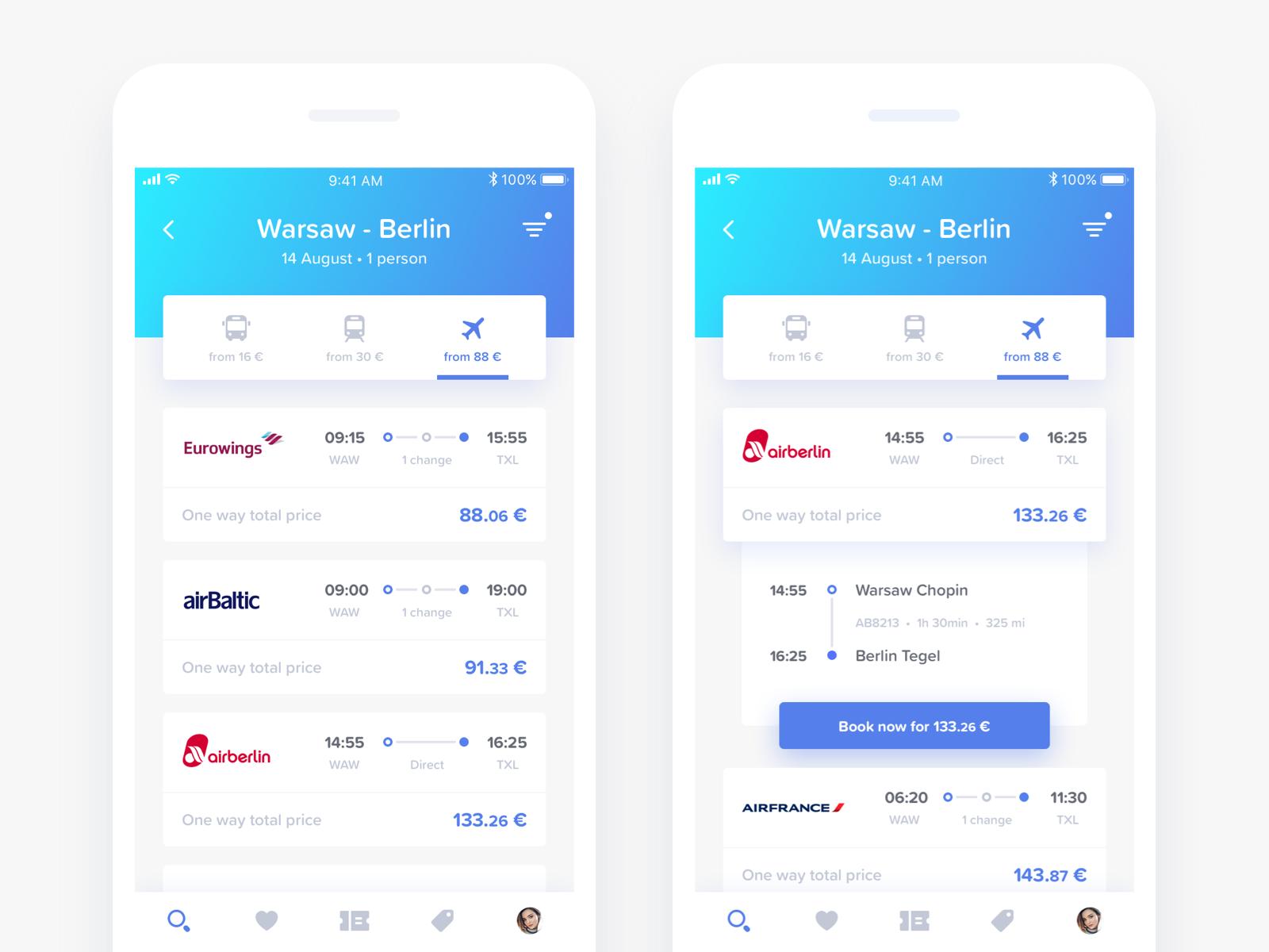 Goeuro search route full | UI/UX Financial | Mobile app ui, App
