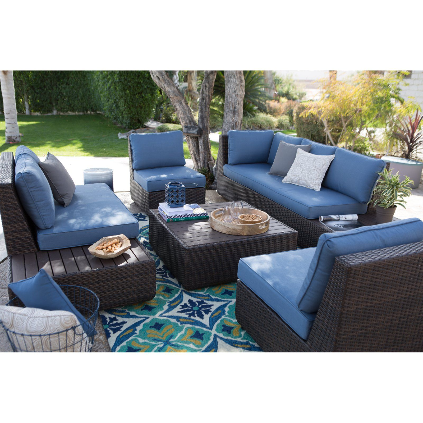 Outdoor Belham Living Luciana Bay All Weather Wicker Deep ... on Living Spaces Outdoor Sectional id=15130