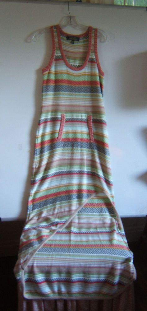 Charlotte Tarantola Anthropologie Cotton Blend Maxi Sweater  Dress Size M #CharlotteTarantola #Sundress #SummerBeach