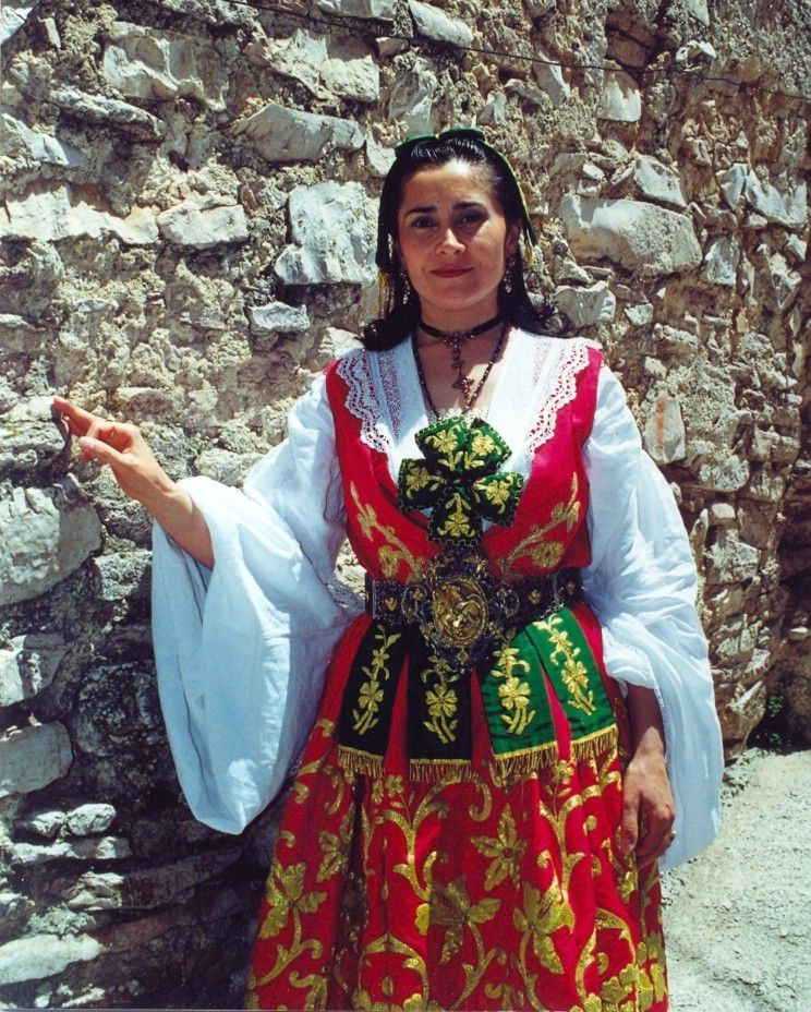 Traditional women dresses from Sicily, Italy-Piana degli Albanesi country city. This traditional dresses are connected to albanian traditions, since this particular people leads their ancestries from Albania