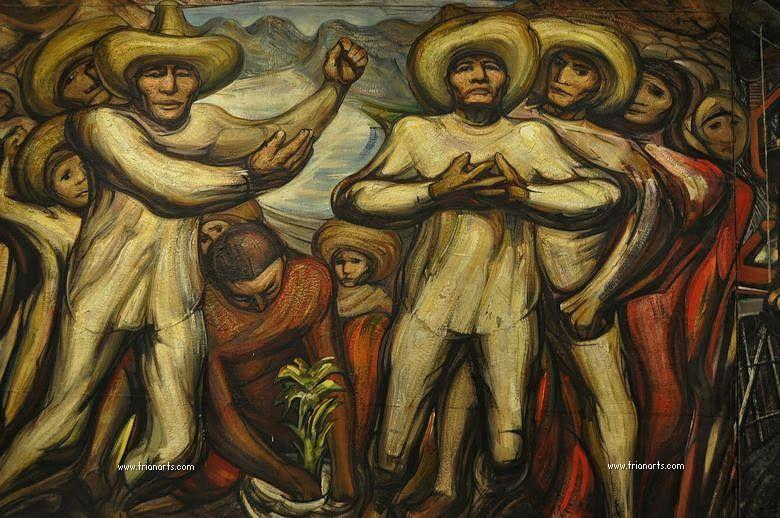 David Alfaro Siqueiros Muralismo Mexicano Trianartstrianarts