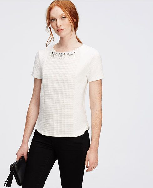 Primary Image of Jeweled Texture Top
