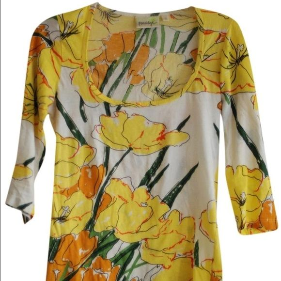 Porridge Daffodil Shirt Cotton excellent used condition Anthropologie Tops Tees - Long Sleeve