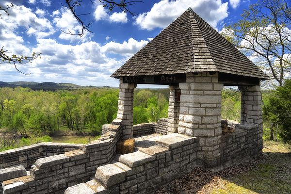 Jensen Point - Lars Peter Jensen - Henry Shaw Gardenway Association  Constructed by the CCC May 1939 - It overlooks the Meramec River Valley and Old Route 66 near Pacific, MO.