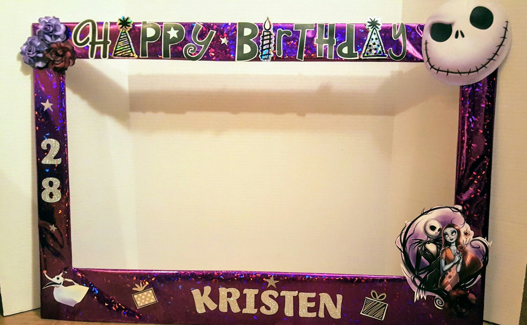 Birthday Photo Booth Framethe Nightmare Before Christmaspurple And